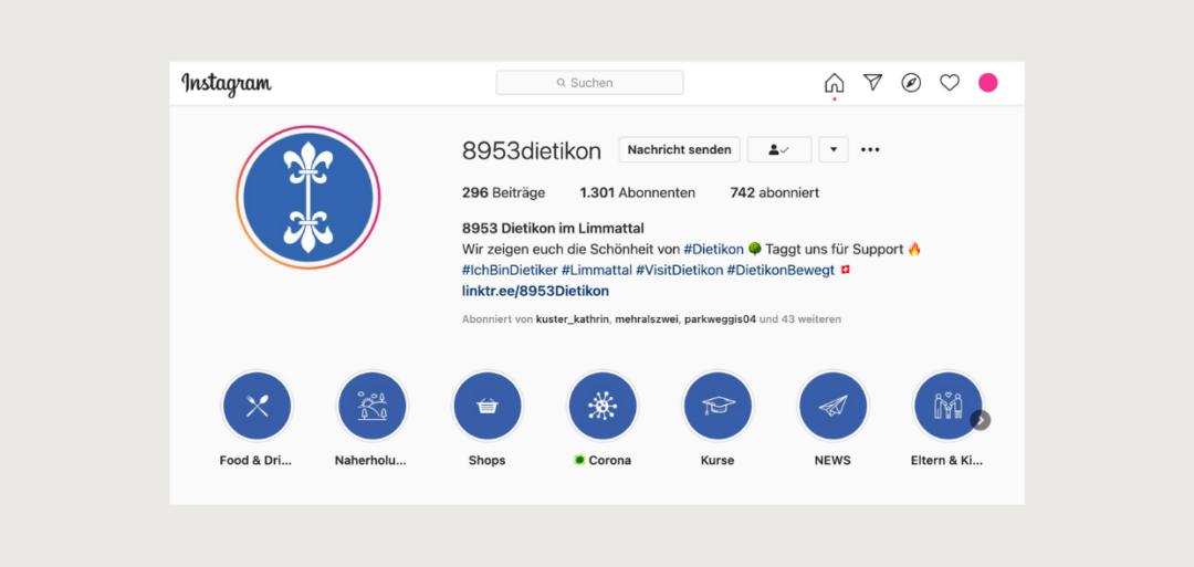 Ehrenamtliches Instagram-Projekt @8953Dietikon
